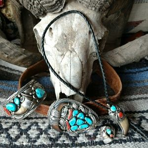Other - Vintage Navajo carfted jewelry set